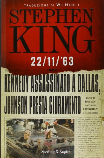 libro 22/11/'63 romanzo di fantascienza ucronica di Stephen King